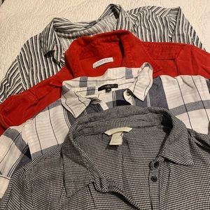 Tops - bundle of 4 casual dress shirts/button down tops!